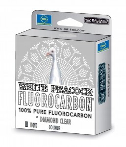 Fluorocarbonu white peacock 0,25mm 50m